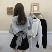 網紅薄款長袖衛衣女秋季2020新款韓版百搭寬鬆設計感洋氣短款上衣 伊蘿