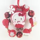 【震撼精品百貨】Hello Kitty 凱蒂貓~聖誕圈-KITTY造型-紅圈