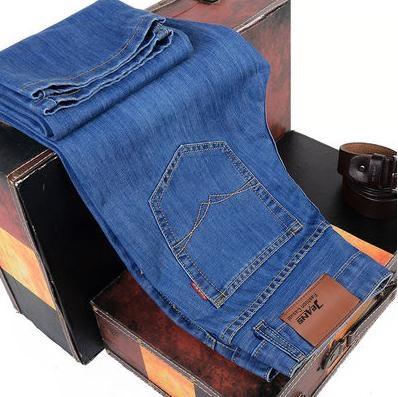 牛仔褲夏季薄款男士牛仔褲男直筒寬鬆休閒長褲大碼商務男褲中青年工作褲 衣間迷你屋