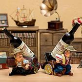 酒架 酒櫃裝飾品擺件家居歐式客廳現代簡約廚師紅酒架電視櫃擺設工藝品 jd城市玩家
