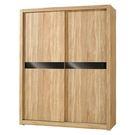 【森可家居】凱文5X7尺橡木紋推門衣櫃 7JF053-3 衣櫥 木紋質感 左右拉門  無印北歐風 MIT