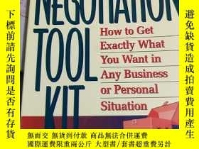 二手書博民逛書店【英文原版】The罕見Negotiation Toolkit: