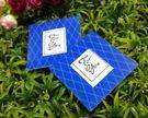 藍色格紋相框杯墊 (兩入裝)/50份~~ 婚禮小物 送客小禮 婚禮佈置