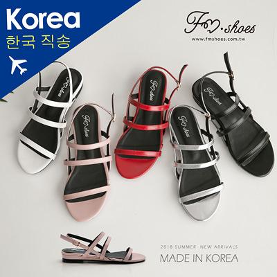 涼鞋.細帶微楔型涼鞋(白、銀、紅)-FM時尚美鞋-韓國精選.Repeat