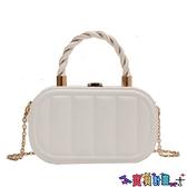 手提包 小眾設計小包包女夏季2021新款潮高級感百搭手提盒子包錬條斜背包 寶貝計畫