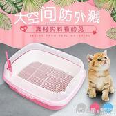 雙層貓砂盆貓廁所貓砂盒 大號半封閉式貓砂盆 鬆木貓砂 ◣怦然心動◥