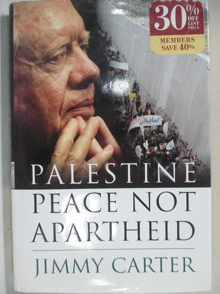 【書寶二手書T7/原文小說_I44】Palestine: Peace Not Apartheid_Carter, Jimmy