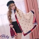 圍巾 蝴蝶結撞色披肩圍巾-Ruby s 露比午茶