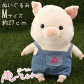 ❤Hamee 日本 Pig童話故事系列 三隻小豬 絨毛玩偶 布偶娃娃 M (豬小弟/牛仔) 557-022539