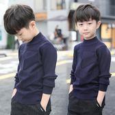 男童秋裝毛衣秋冬款刷絨加厚套頭高領針織衫【奈良優品】