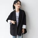 孜索秋季新款黑色西裝外套女韓版寬鬆休閒小...