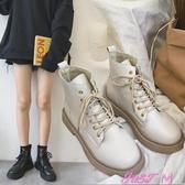 新款冬季百搭英倫風馬丁靴女平底韓版學生休閒秋款短靴女春季新品