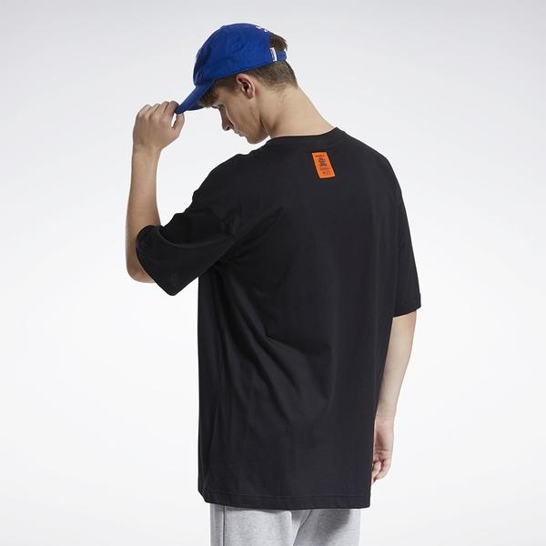 REEBOK X BLACK EYE PATCH 男裝 女裝 短袖 聯名 街頭 寬鬆 純棉 黑【運動世界】GT4637