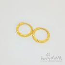 威世登 黃金刻花扣式耳環 金重約0.67~0.69錢 GF00511-AAXX-FIX