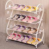 鞋架簡易家用多層簡約現代經濟型鐵藝宿舍拖鞋架子收納小鞋架鞋櫃 聖誕節禮物