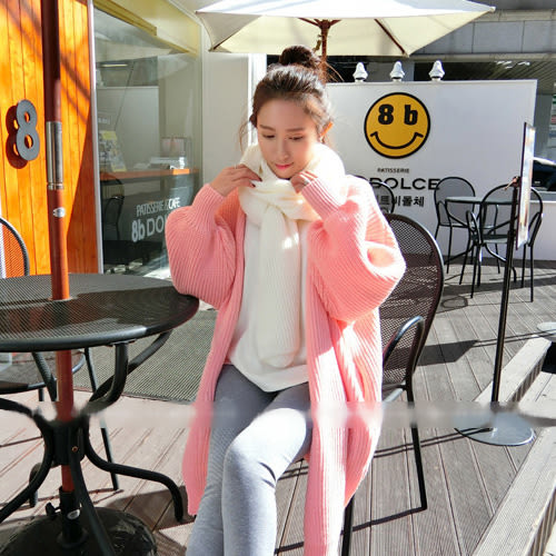 針織外套 甜美女孩開叉嫩色針織外套 艾爾莎【TAE4171】