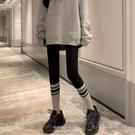 打底褲女春外穿騎行褲子拼色緊身秋褲瑜伽彈力顯瘦魔術褲 快速出貨