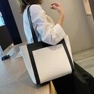 手提包 大包包女2020新款潮韓版百搭單肩包大容量學生托特包簡約手提女包