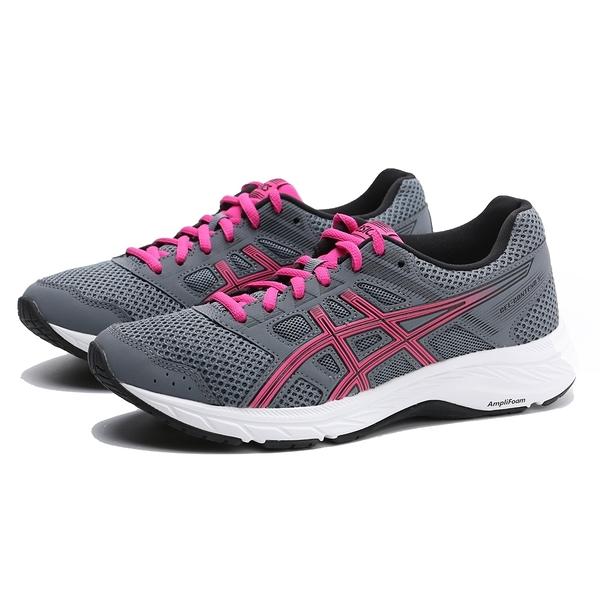 ASICS 休閒鞋 慢跑鞋 GEL-CONTEND 5 灰 粉 D楦 寬楦 網布 輕量 女 (布魯克林) 1012A231021