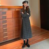 雪紡洋裝 秋裝2021年新款女法式復古溫柔碎花雪紡連身裙洋氣質時尚A字裙子 嬡孕哺