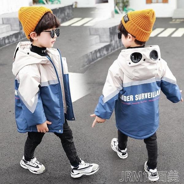 衝鋒衣外套男童冬款棉衣加厚派克服新款中小童男孩洋氣加絨外套冬裝棉 快速出貨