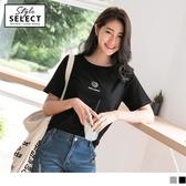 《KG0495-》高含棉小咖啡配色印圖T恤上衣 OB嚴選