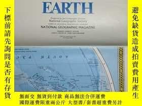 二手書博民逛書店National罕見Geographic國家地理雜誌地圖系列之1988年12月 Endangered Earth