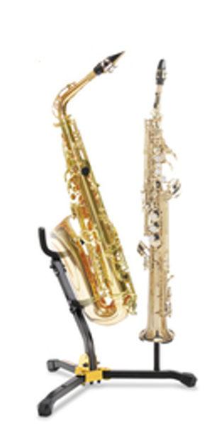 【金聲樂器廣場】Hercules 海克力斯 DS533B 中音/次中音+高音薩克斯風架 2用架(附收納袋)