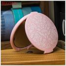 《不囉唆》歐式粉色花紋化妝鏡 巧妝鏡/小鏡子/梳妝鏡/手拿鏡(不挑色/款)【A297721】