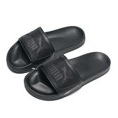 PUMA 拖鞋 LEADCAT FTR MONO 全黑 灰LOGO 運動拖鞋 男女 (布魯克林) 37510101