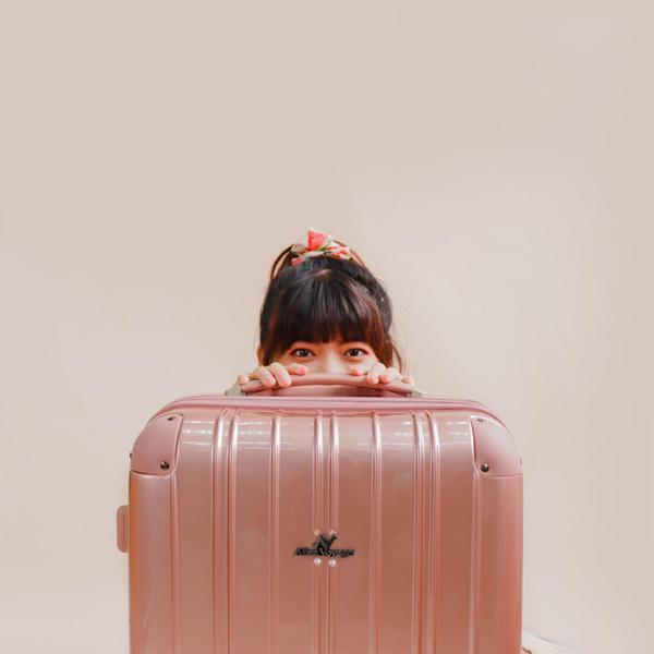 行李箱 旅行箱 奧莉薇閣 24吋可加大PC硬殼 國色天箱 玫瑰金