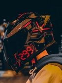 頭盔 艾獅頭盔男女摩托車犄角揭面盔半全覆式帶藍牙耳機個性酷四季機車 夢藝家
