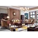 [紅蘋果傢俱]美式歐式 8803#沙發1+2+3(8802#茶几/方几) 套組 沙發 皮沙發 沙發組 客廳