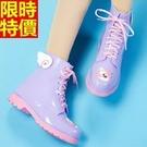 短筒雨靴雨鞋-甜美可愛靈動果凍色女靴子鞋子3色66ak9【時尚巴黎】