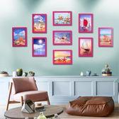 簡約現代懸掛照片墻裝飾客廳相片墻相框創意組合九宮格掛墻相框墻