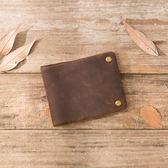 手工復古橫款拉鍊男士錢包牛皮簡約做舊錢夾