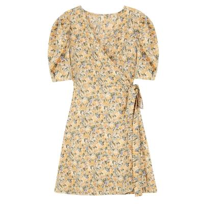 洋裝 雪紡裙春裙子碎花連身裙女裝韓版顯瘦小個子短裙NE34依佳衣