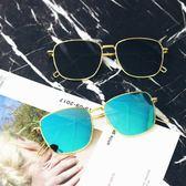 太陽眼鏡 風方框墨鏡男潮流金邊太陽眼鏡光鏡 台北日光