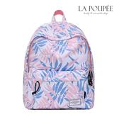 後背包 甜美粉嫩樹葉印花A4大容量書包-La Poupee樂芙比質感包飾 (現貨)