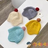 寶寶毛線帽可愛毛球針織帽嬰兒護耳帽兒童帽子【淘嘟嘟】