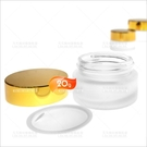 霧面玻璃面霜分裝空罐(金蓋/銀蓋-不挑色)-20g(收納瓶罐)[59925]