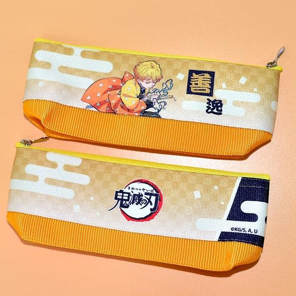 日本製 鬼滅之刃 無限列車 我妻善逸 筆袋 筆盒 文具袋 日本販售正版 POLY製