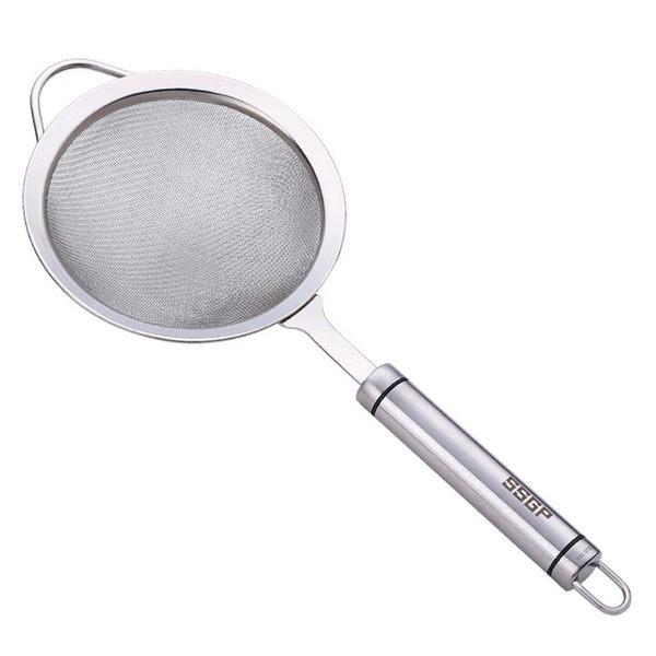 PUSH!廚房用品加厚304不銹鋼濾網勺果汁過濾網勺漏勺火鍋濾網D71