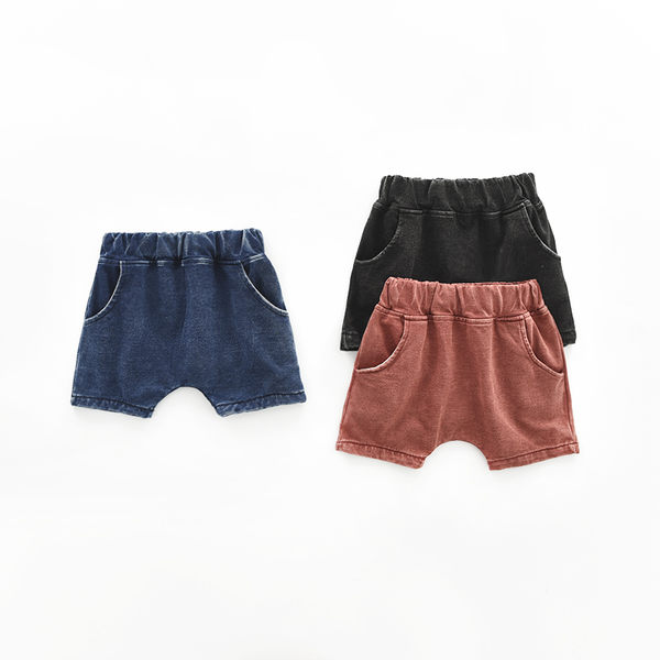 夏季童裝 兒童水洗刷舊牛仔哈倫短褲.五分褲~EMMA商城