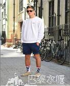 夏季亞麻休閒短褲男士寬鬆夏天沙灘五分褲直筒棉麻料白色中褲薄款-巴黎衣櫃