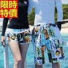 情侶款海灘褲(單件)-雙內襯網涼快舒適男女沙灘褲66z5【時尚巴黎】