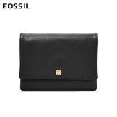 FOSSIL AUBREY 黑色金釦設計零錢短夾 SL7812001