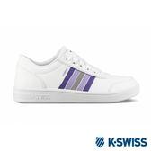K-SWISS Court Clarkson S SE休閒運動鞋-女-白/紫
