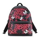 【南紡購物中心】MICHAEL KORS COOPER 個性款滿版PVC拉鍊後背包-紅
