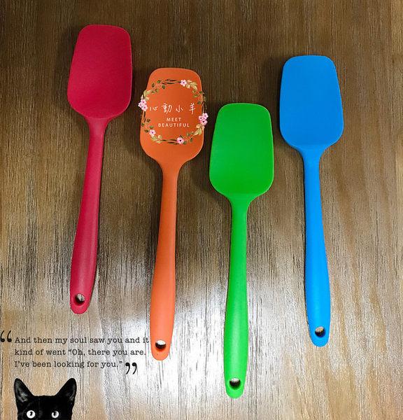 彩色矽膠耐高溫彩色凹槽刮刀烘焙工具(超好用橡皮矽膠刮刀),烘焙、手工皂專用